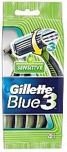 Парфюми, Парфюмерия, козметика Комплект самобръсначки, 4бр - Gillette Blue 3 Sensitive