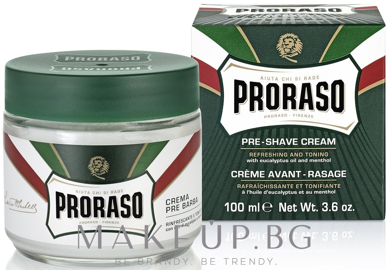 Крем преди бръснене с ментол и евкалипт - Proraso Green Pre Shaving Cream — снимка 100 ml