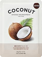 Парфюмерия и Козметика Хидраттираща памучна маска за лице с кокос - It's Skin The Fresh Mask Sheet Coconut