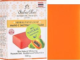 Парфюмерия и Козметика Сапун с екстракт от папая - Sabai Thai Herbal Papaya Soap