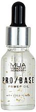 Парфюмерия и Козметика Основа за лице със златни частици - Mua Pro/ Base Primer Oil With Gold Flakes
