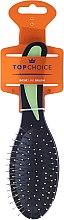 Парфюми, Парфюмерия, козметика Четка за коса, черно-зелена, 2731 - Top Choice