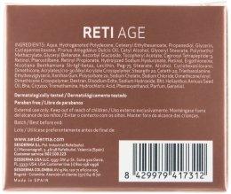 Крем против стареене с ретинол за суха кожа - SesDerma Laboratories Reti Age Facial Antiaging Cream 3-Retinol System — снимка N3