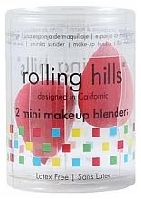Парфюмерия и Козметика Гъби за грим, червени, 2 бр. - Rolling Hills 2 Mini Makeup Blenders