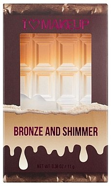 Хайлайтър-бронзант за лице - I Heart MakeUp Chocolate Peach & Glow Palette