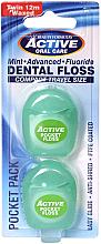 Парфюмерия и Козметика Конец за зъби, 12 м - Beauty Form Active Oral Care Dental Floss