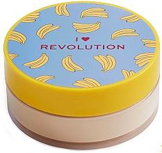 Парфюмерия и Козметика Насипна бананова пудра за лице - I Heart Revolution Loose Baking Powder Banana