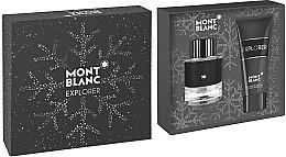 Парфюмерия и Козметика Montblanc Explorer - Комплект (парф. вода/60ml + душ гел/100ml)