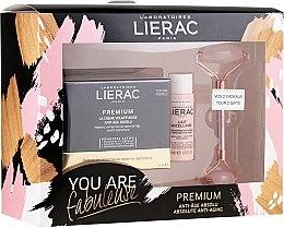Парфюмерия и Козметика Комплект за лице - Lierac Premium Anti-Age Absolu Set (крем/50ml + мляко/30ml + масажор/1бр)