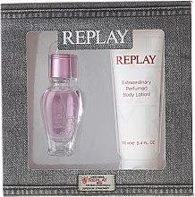 Парфюмерия и Козметика Replay Jeans Spirit! For Her - Комплект (тоал. вода/20ml + лосион за тяло/100ml)