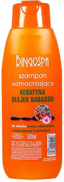 Шампоан с екстракт от кератин и масло от бабасу - BingoSpa Shampoos Strengthening Of The Keratin And Babassu Oil — снимка N1