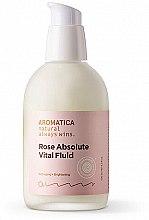 Парфюмерия и Козметика Органичен хидратиращ флуид с екстракт от роза - Aromatica Rose Absolute Vital Fluid