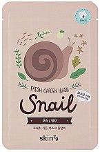 Парфюмерия и Козметика Маска за лице от плат - Skin79 Fresh Garden Mask Snail