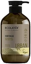 Парфюмерия и Козметика Подхранващ балсам за суха коса с авокадо и слез - Ecolatier Urban Hair Balm