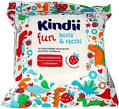 Парфюмерия и Козметика Детски мокри кърпички - Kindii Fun