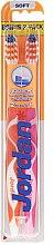 Парфюми, Парфюмерия, козметика Четки за зъби, меки, Advanced, оранжева + розова - Jordan Advanced Soft Toothbrush