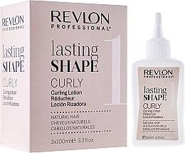 Парфюми, Парфюмерия, козметика Комплект за къдрене за естествена коса - Revlon Professional Lasting Shape Curly Lotion Natural Hair (lot/3x100ml)