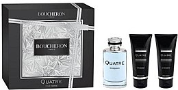 Парфюми, Парфюмерия, козметика Boucheron Quatre Boucheron Pour Homme - Комплект (edt/100ml + ash/balm/100ml + sh/gel/100ml)