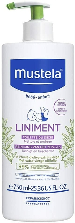 Почистващо бебешко мляко при смяна на пелени - Mustela Bebe Liniment