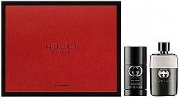 Парфюми, Парфюмерия, козметика Gucci Guilty Eau Pour Homme - Комплект (edt/90ml + deo/75ml)