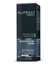 Парфюми, Парфюмерия, козметика Овлажняващ крем за лице и околоочна зона за мъже - Dr Irena Eris Platinum Men Intensive Hydrator Day Cream