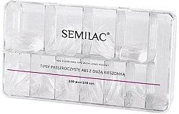 Парфюмерия и Козметика Изкуствени нокти - Semilac Tips Box Klar