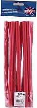 Парфюмерия и Козметика Професионални ролки за коса 12/240, червени - Ronney Professional Flex Rollers