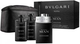 Парфюми, Парфюмерия, козметика Bvlgari Man Black Cologne - Комплект (edt/100ml + ash/balm75ml + sh/gel/75ml+ bag)