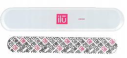 Парфюмерия и Козметика Пила за нокти, в калъф - Ilu Nail File With Case Medium 240/240