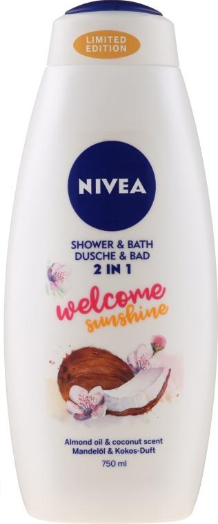"Гел-пяна за вана ""Кокос и бадем"" - Nivea Welcome Sunshine Body Wash Limited Edition"