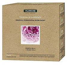 Парфюми, Парфюмерия, козметика Комплект за коса - Klorane Peony (шампоан/200ml + балсам/150ml)