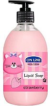 "Парфюми, Парфюмерия, козметика Течен сапун ""Ягода"" - On Line Kids Time Liquid Soap Strawberry"