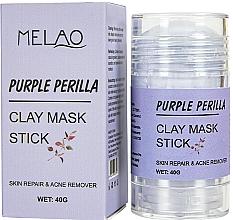 Парфюмерия и Козметика Стик глинена маска за лице с перила - Melao Purple Perilla Clay Mask Stick