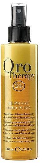 Възстановяващ двуфазен спрей балсам за коса с кератин - Fanola Oro Therapy