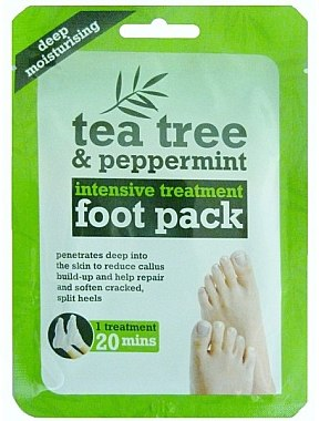 Маска-чорапи за краката - Xpel Marketing Ltd Tea Tree & Peppermint Deep Moisturising Foot Pack