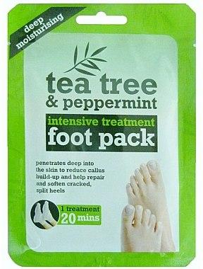 Маска-чорапи за краката - Xpel Marketing Ltd Tea Tree & Peppermint Deep Moisturising Foot Pack