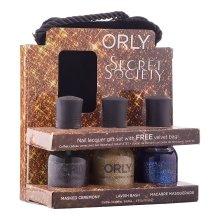 Парфюми, Парфюмерия, козметика Комплект лакове за нокти - Orly Secret Society Gift Set with Velvet Bag (nail/3х18ml + bag)