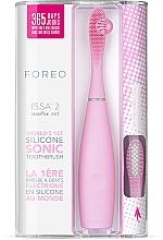 Парфюмерия и Козметика Електрическа четка за зъби с допълнителна приставка - Foreo Issa 2 Sensitive Set Pearl Pink