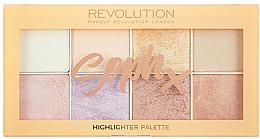 Парфюмерия и Козметика Палитра хайлайтъри за лице - Makeup Revolution Soph Highlighter Palette