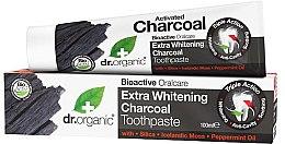 Парфюми, Парфюмерия, козметика Паста за зъби с активен въглен - Dr. Organic Extra Whitening Charcoal Toothpaste