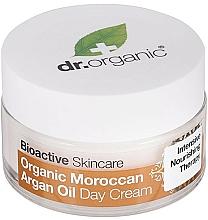 Парфюмерия и Козметика Дневен крем за лице с мароканско арганово масло - Dr. Organic Bioactive Skincare Organic Moroccan Argan Oil Day Cream