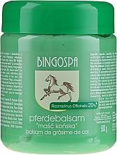 Парфюмерия и Козметика Конски мехлем с екстракт от розмарин - BingoSpa Ointment Horse With Rosemary