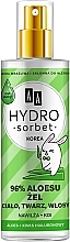 Парфюмерия и Козметика Универсален гел 96% алое - AA Hydro Sorbet Gel (спрей)