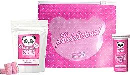 Парфюмерия и Козметика Комплект колаген и желирани бонбони за здрава коса - Hair Care Panda Travel Set (h/vitam/70g + h/vitam/10pc + bag)