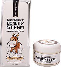 Парфюмерия и Козметика Хидратиращ крем за лице с екстракт от магарешко мляко - Elizavecca Silky Creamy Donkey Steam Moisture Milky Cream