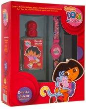 Парфюмерия и Козметика Marmol & Son Dora the Explorer - Комплект за деца (тоал. вода/50ml + часовник)