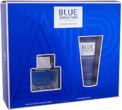 Парфюми, Парфюмерия, козметика Blue Seduction Antonio Banderas - Комплект (тоал. вода/50ml +афтър. балсам/50ml)