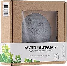 Парфюмерия и Козметика Натурален пилинг камък за тяло, сив - Pierre de Plaisir Natural Scrubbing Stone Body