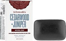 Парфюми, Парфюмерия, козметика Сапун - Schmidt's Naturals Bar Soap Cedarwood Juniper With Charcoal