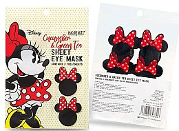 Парфюмерия и Козметика Памучна маска за околоочния контур с краставица и зелен чай - Mad Beauty Disney Minnie Mouse Sheet Eye Mask